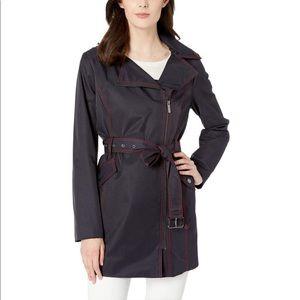 Michael Kors Asymmetrical Zip Trench Coat